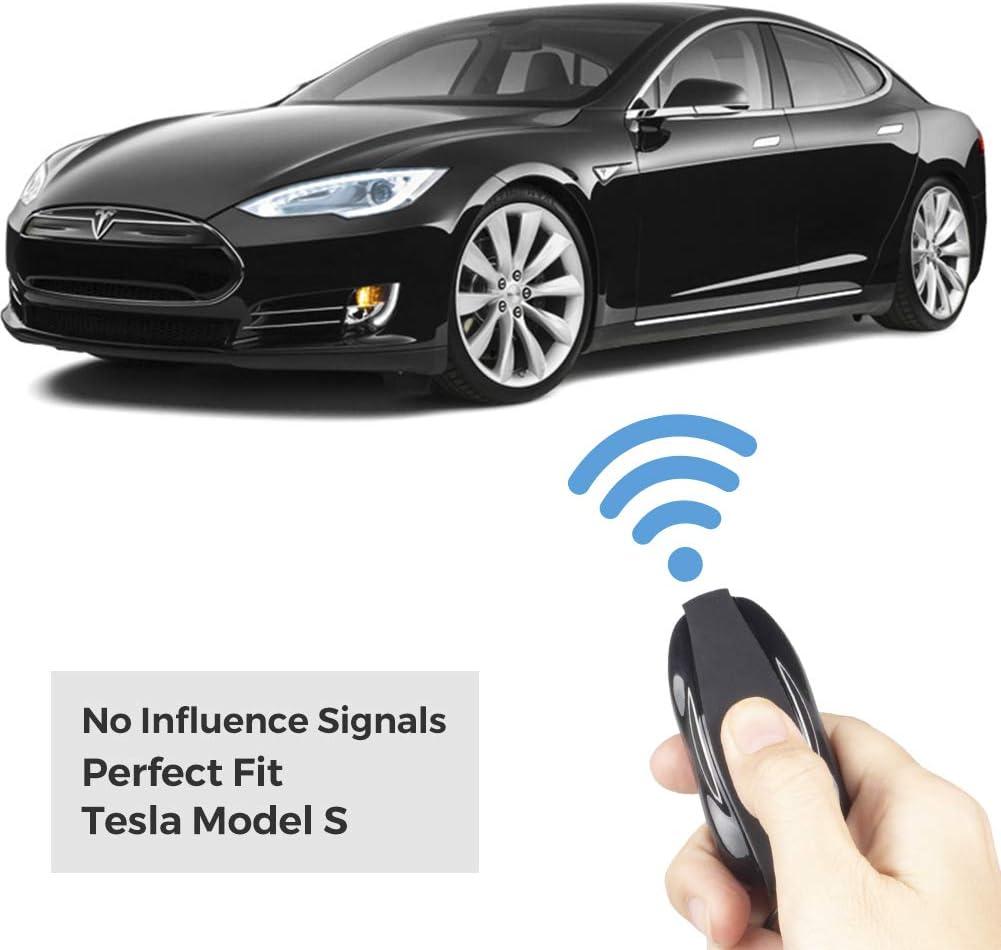 Black, Tesla Model 3 TapTes Model 3 Silicone Remote Key Fob Case Cover Key Fob Case Holder Key Chain Compatible Tesla Model 3 Accessory 1PCS