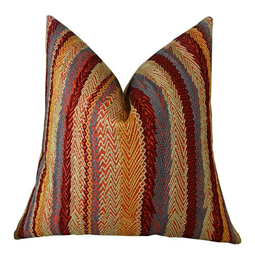 Plutus Red Earth Handmade Throw Pillow 20