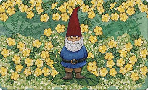 Toland Home Garden Garden Gnome 18 x 30 Inch Decorative Summer Floor Mat Spring Flower (Gnome Mat)