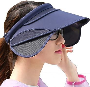 Suntop Sombreros de Visera para el Sol Mujeres Gorra de Playa con ...
