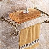 HQLCX Antique Bath Towel Bar, All Copper European Style Retro Bathroom Rack
