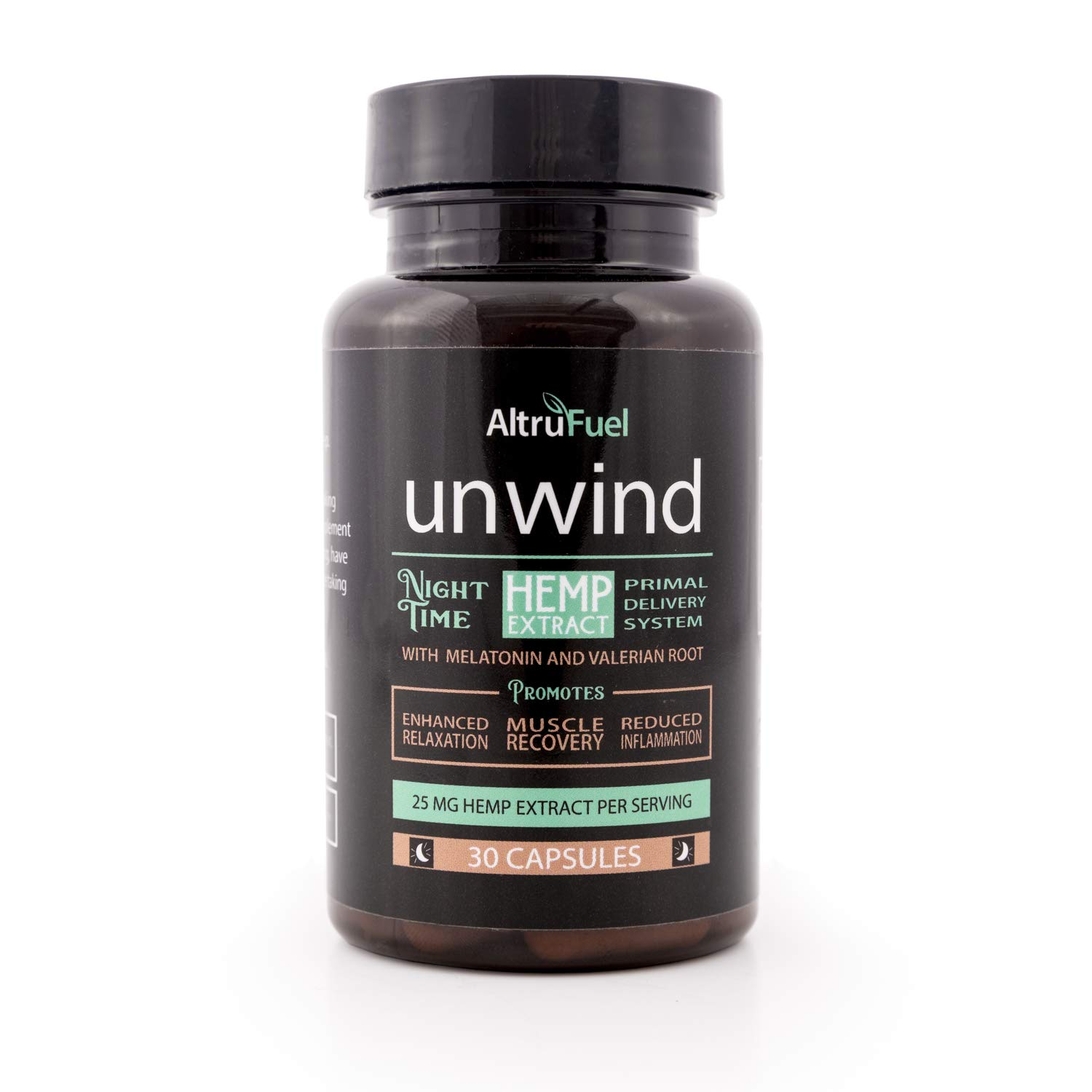 Amazon.com: AltruFuel Unwind - Natural Hemp Extract with Melatonin and Valerian Root [Promotes Sleep, Muscle Recovery and Relaxation] - 30 Vegan Caps: ...