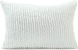Beatrice Home Fashions Channel Chenille Bedspread, Standard Sham, White