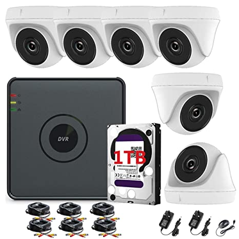 Hikvision CCTV Kit DVR de 8 canales 1080P & 6 x Sony 2,4 MP CMOS ...