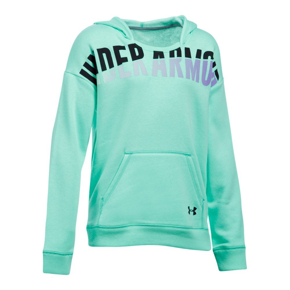 Under Armour Girls' Favorite Fleece Hoodie, Crystal/Black, Youth Small by Under Armour