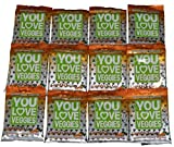 You Love Veggies Premium Organic Veggie Snacks Carrot & Chia Seed of 12 by You Love Fruit