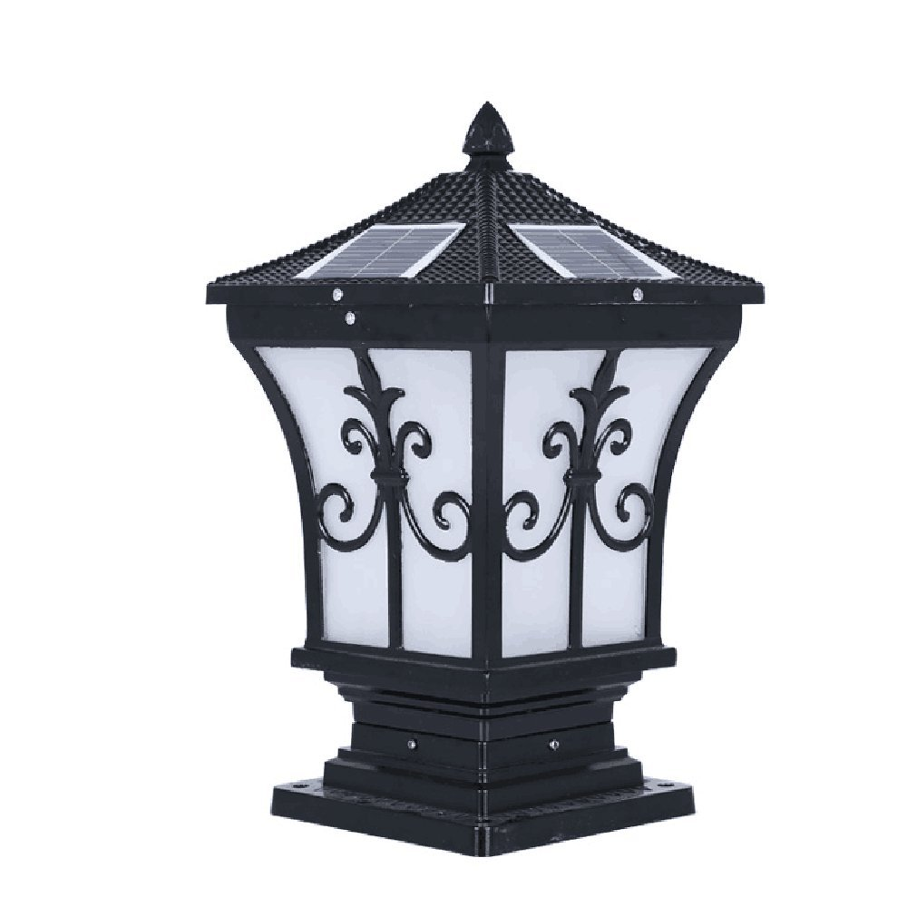 WWJ/ Solar lights/the stigma Wall lamp/outdoor landscape lighting/garden lighting/LED solar post light , black