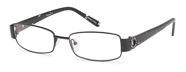 7db693c1d6 Amazon.com  Women s Square Black Glasses Frames Prescription Eyeglasses  Size 53-17-135  Clothing