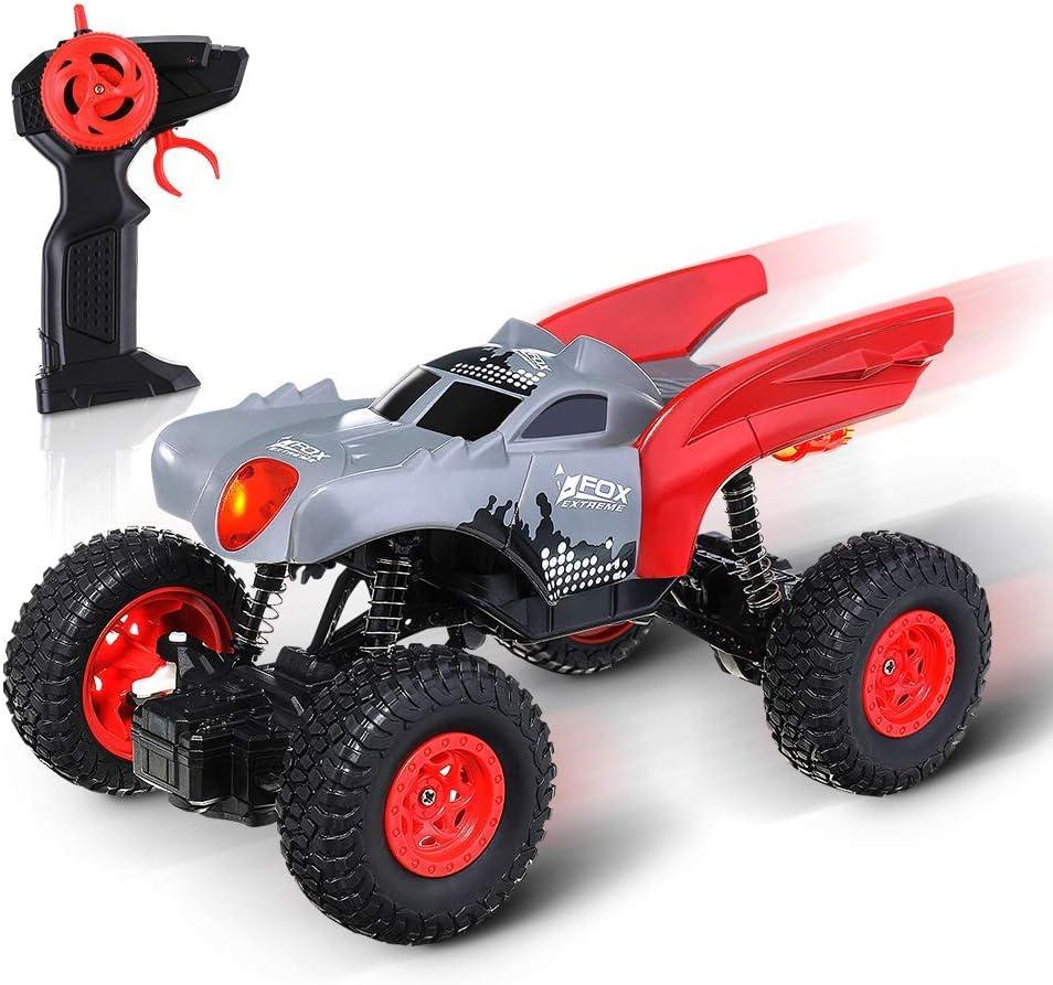 EACHINE EC04, Mini Coche de Control Remoto para Niños, RC Cars Camiones Todoterreno Vehículo 2.4Ghz 4WD Potente 1:20 Carreras Coches de Escalada Radio Electric Rock Crawler Buggy Hobby Toy para Niños