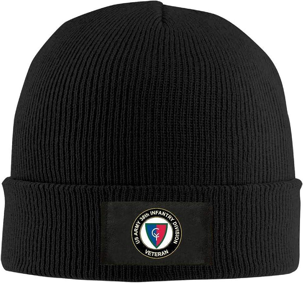 FORDSAN CP US Army 38th Infantry Division Veteran Mens Beanie Cap Skull Cap Winter Warm Knitting Hats