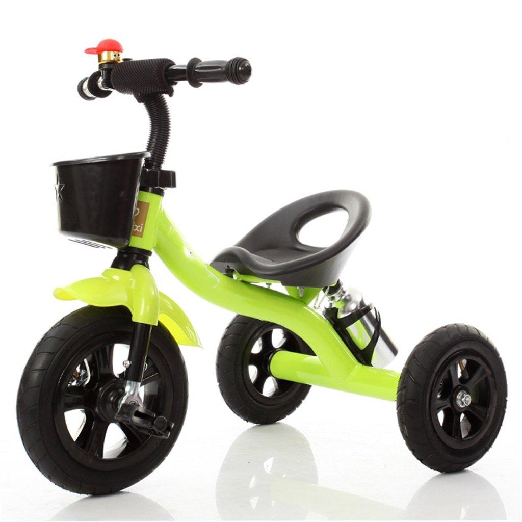 Babywagen Dreirad-Baby-Wagen-Fahrrad-Kind-Spielzeug-Auto Aufblasbares Rad   Schaum-Rad-Fahrrad verwendbar für 1-2-3-4 Jährige (Junge   Mädchen), Grün FAHRRAD