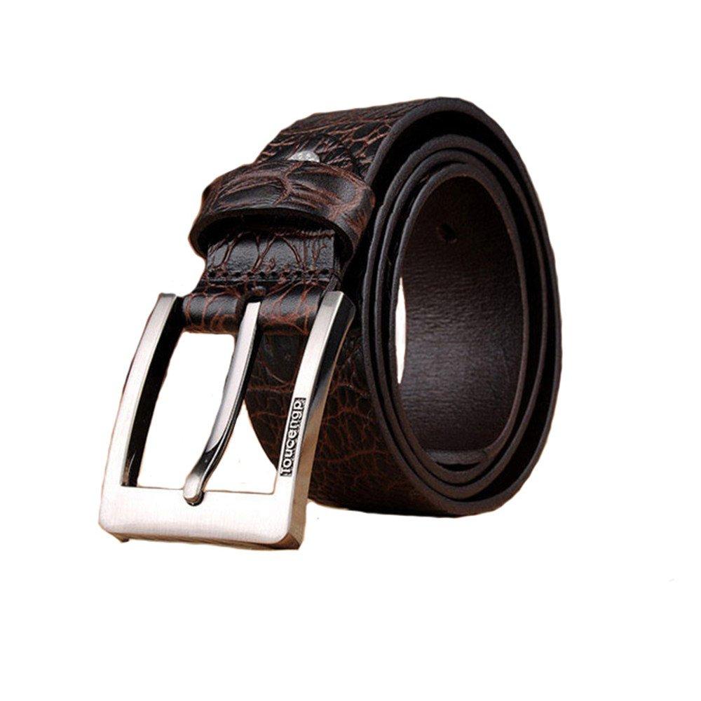 2018 Love/and/Team/Genuine/Leather Belt men leisure pin buckle belt pure cowhide belt crocodile grain, 115 cm
