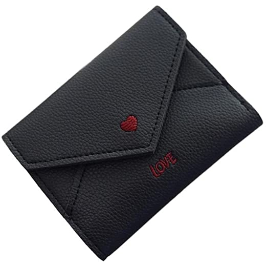 e6f5d9b1a2ca7 Love Heart Wallet (Black) at Amazon Women's Clothing store: