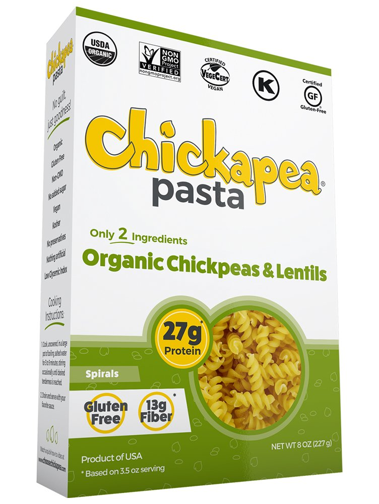 Chickapea Organic Chickpea and Red Lentil Pasta