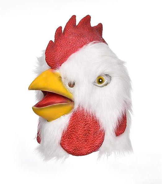 Libertry - Máscara de gallo de peluche para disfraz de Halloween ...