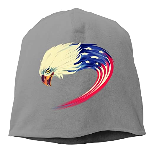 991c8ac52aac0 Image Unavailable. Image not available for. Color  American Eagles Flag  Design Logo Vintage Cable Knit Skull Caps Thick Soft ...