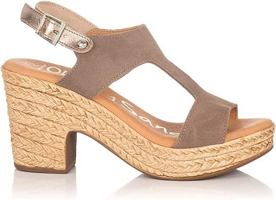 OH MY SANDALS 4375 Sandalia Ante Plataforma Mujer Taupe 41: Amazon.es: Zapatos y complementos