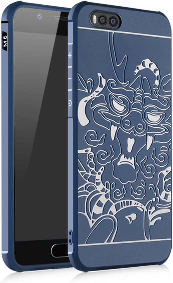 Xiaomi Mi 6 SMTR Cover - Smukły pancerz TPU 3D Miękki futerał do smartfona Xiaomi Mi 6 (Slim Fit Series - Blue Dragon)