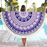 LUNIWEI Decorative Designer Multi-Function Beach Towel Yoga Mat Tablecloths For Picnic Square Rectangle Tables