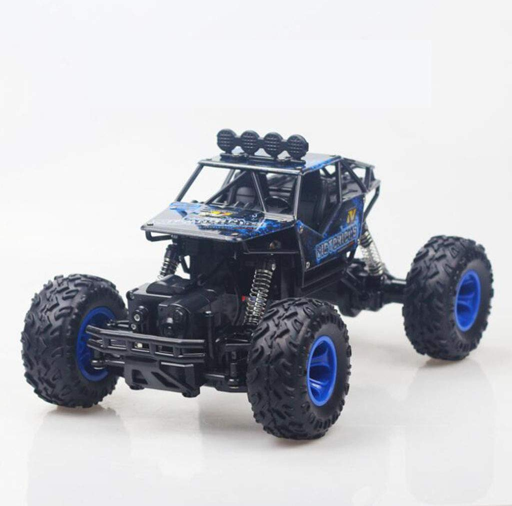 CMDDYY 2.4G Grande Telecomando Auto deriva Fuoristrada a Quattro Ruote motrici Arrampicata Grande Auto ad Alta velocità da Corsa Ragazzo Ricarica Auto Giocattolo,blu