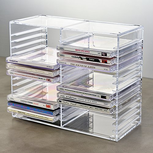 Stackable Clear Plastic Cd Holder Holds 30 Standard Cd