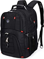 Extra Large 50L Travel Laptop Backpack with USB Charging Port Fit