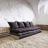 KARUP - CHICO SOFA, futon grigio scuro su tatami da combinare in divano o letto