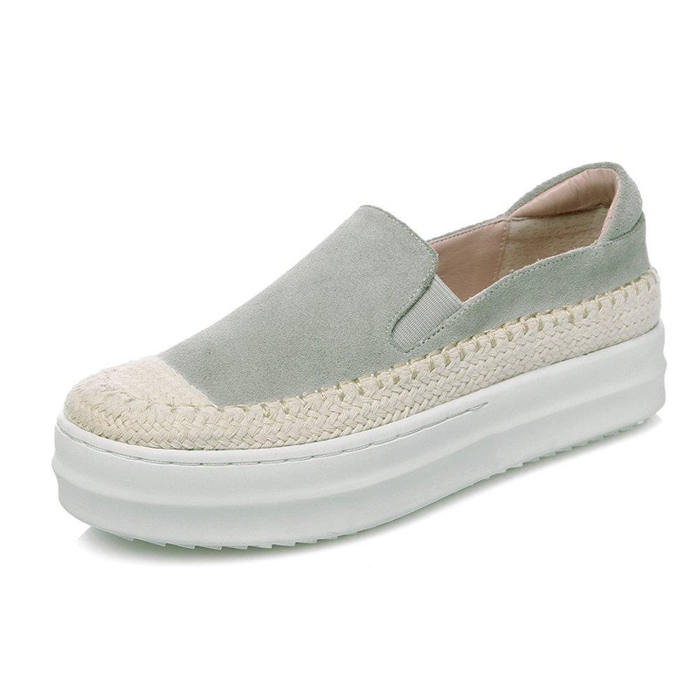 RoseG Mujer Zapatos Plataforma Cuerda Tejer Gris Size39: Amazon.es: Zapatos y complementos