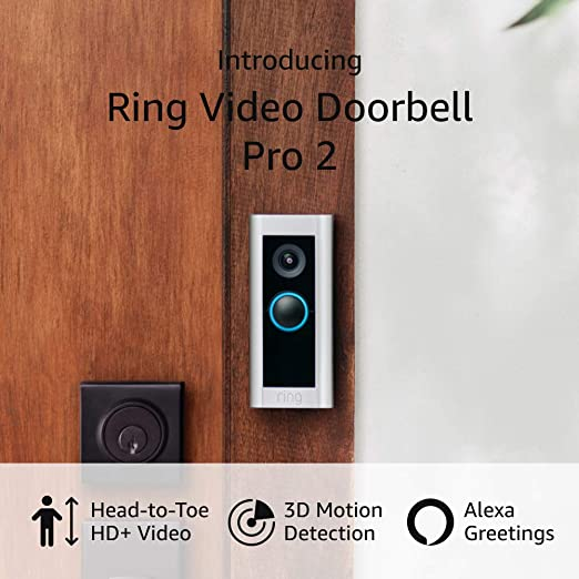 Introducing Ring Video Doorbell Pro 2 – Best-in-class with cutting-edge features (existing doorbell wiring required) – 2021 release | Amazon