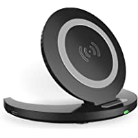 Orda Qi Wireless Folding Charging Pad 5W/10W Quick Charge Compatible for Samsung Galaxy & iPhone (Black)