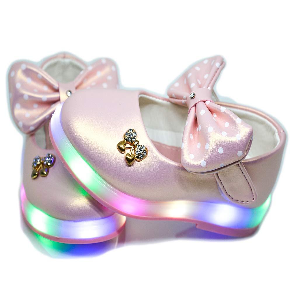 Mishlee Baby Girl Led Shoes-Pink Color