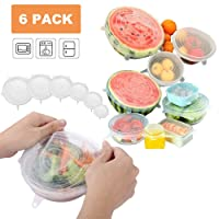 Deals on 6 Pack Cavin Reusable Lids Durable and stretchable Bowl Covers