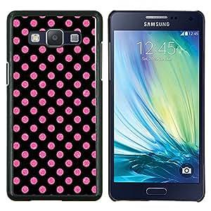 LECELL--Funda protectora / Cubierta / Piel For Samsung Galaxy A5 A5000 -- Dot Pink Purple Pattern Wallpaper --