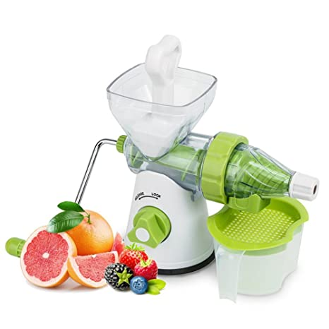 delaman Manual exprimidor lento Masticating único Auger mano) para frutas y verduras