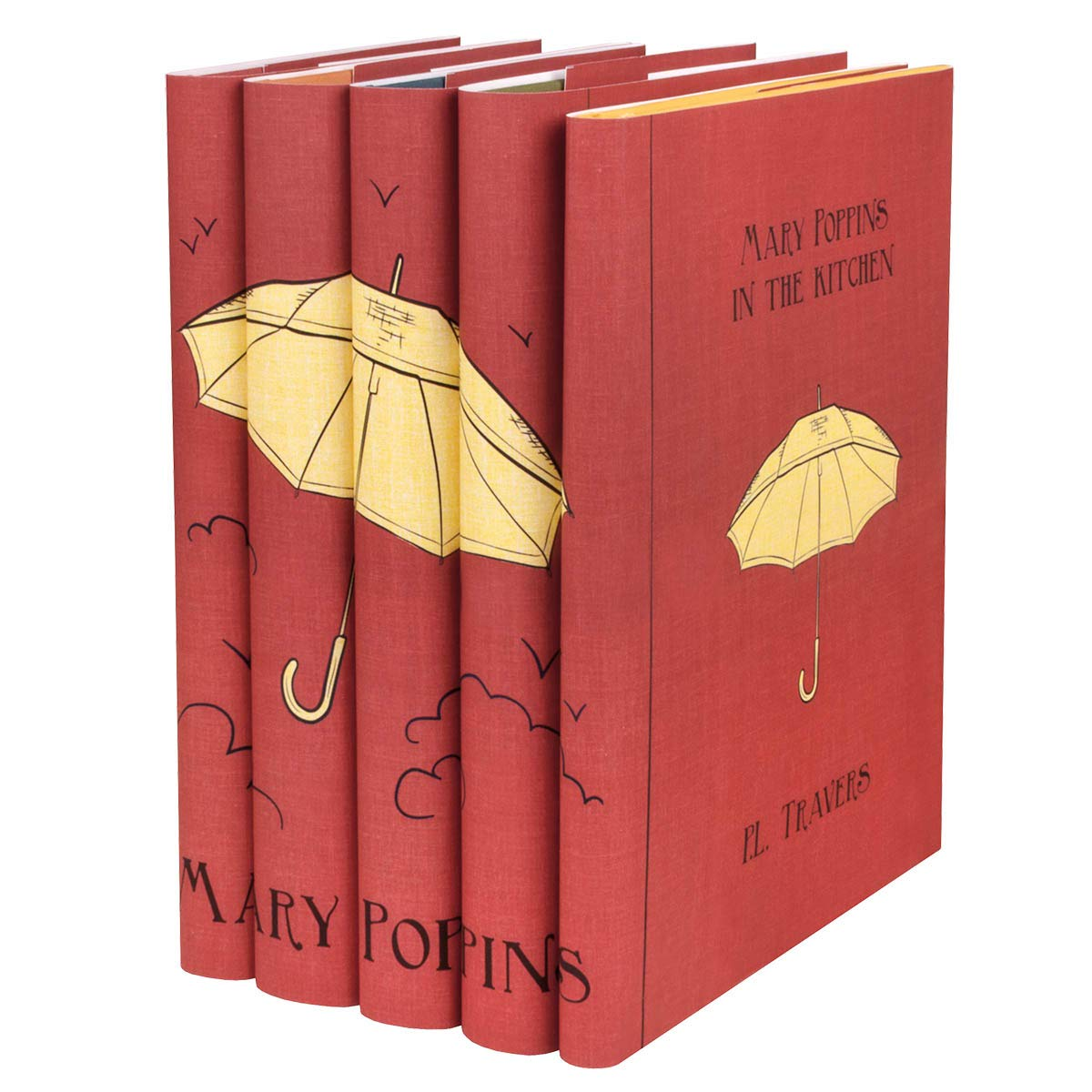 Juniper Books Mary Poppins| Five-Volume Hardcover Book Set with Custom Designed Dust Jackets | Author Pamela Lyndon Travers by Juniper Books