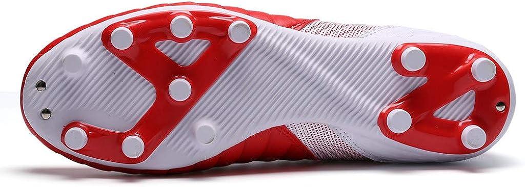 Botas De Fútbol Niño, Botas De Fútbol Unisex Niños Zapatos De Deporte Unisex Zapatos De Entrenamiento Zapatillas De Fútbol Hombre Niño Profesionales Zapatos De Fútbol (Rojo, EU:38 25.3cm/10.0