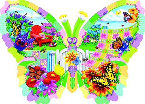 SunsOut Butterfly Summer 1000 Piece Shaped Jigsaw Puzzle