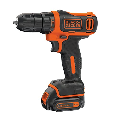 Black and Decker 10.8 V Lithium-Ion Compact Cordless Drill Driver