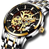 Mens full steel watches LIGE brand Skeleton Automatic - Best Reviews Guide