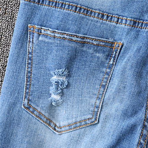 Bleu Jeans De Boyfriend Dchirs Match Trous YiLianDaD Mode Leggings Slim All Femme Jeans S7qRwaZx