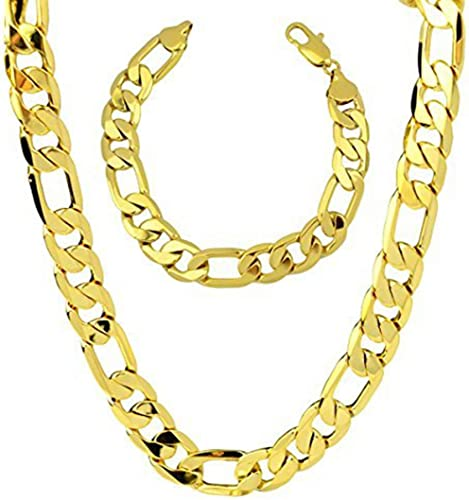 Men/'s Boy Stainless Steel Silver Figaro Hexagon Curb Chain Necklace Jewelry
