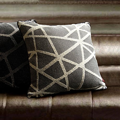 Artbisons Sets of 2 Pillow Cases Grey Geometry 18×18 Thickly Modern Handmade Pillow Covers