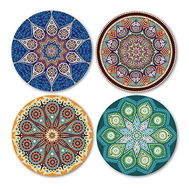 Coastero Absorbent Stone Coasters - MANDALA - Set of 4