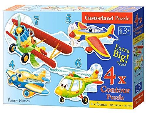 Castorland Funny Planes Jigsaw Premium 4 Puzzle (4 5 6 7-Piece, Multi-Colour) by Castorland