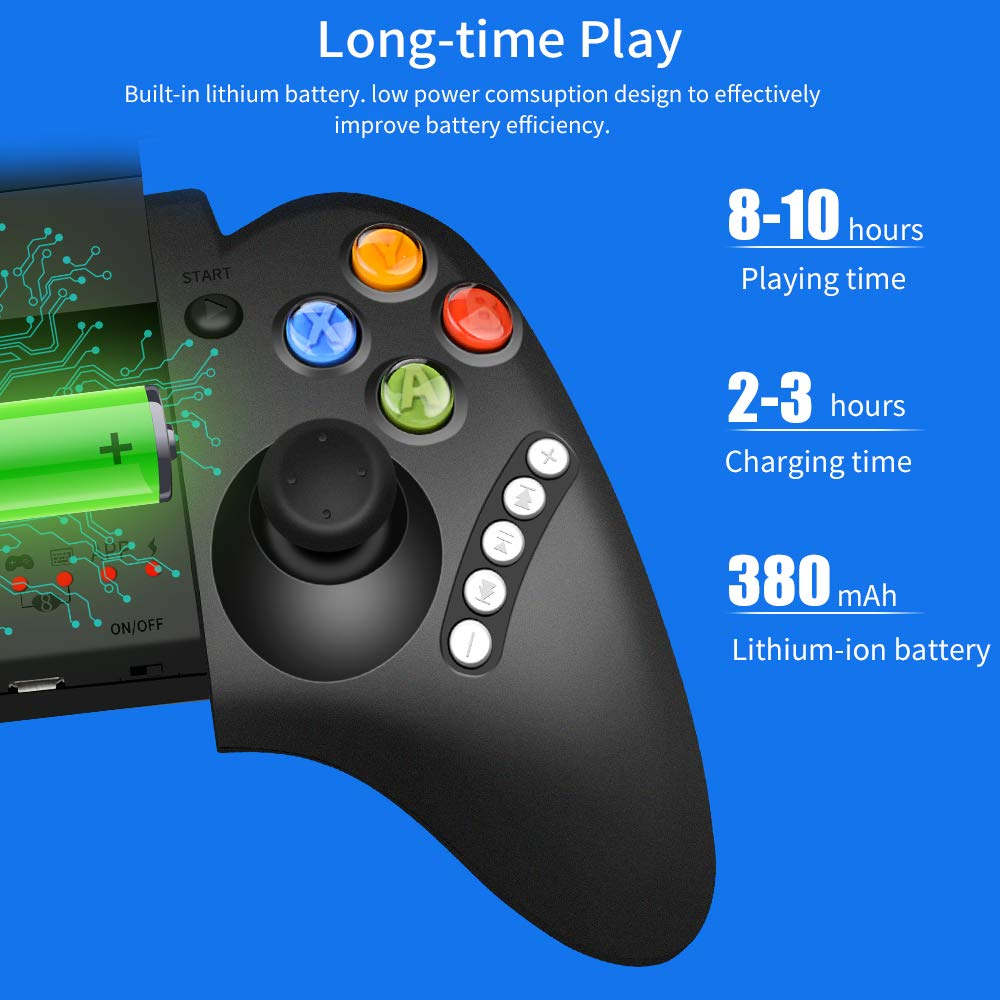 PowerLead Wireless Bluetooth Android Game Controller Gamepad Joypad della Barra di Comando per iPhone//iPod//iPad//Android Telefono PC//Tablet