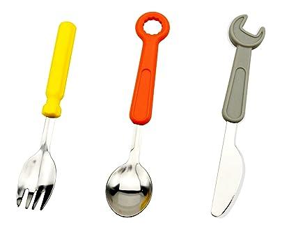 zhiming sin BPA de vajilla herramientas con asas de silicona – apto para lavavajillas – juego