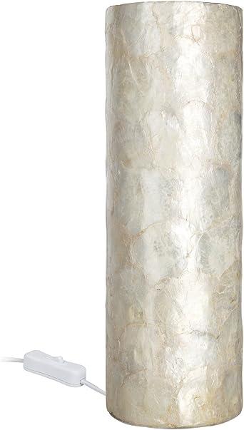 Paulmann 79446 Capiz Lámpara de mesa cilíndrica (300 mm