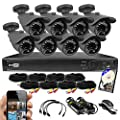 Best Vision 8CH 2TB TVI/AHD/Analog/IP 1080P HD Security Surveillance System with (8) 2MP Outdoor Bullet Cameras – Hikvision Compatible