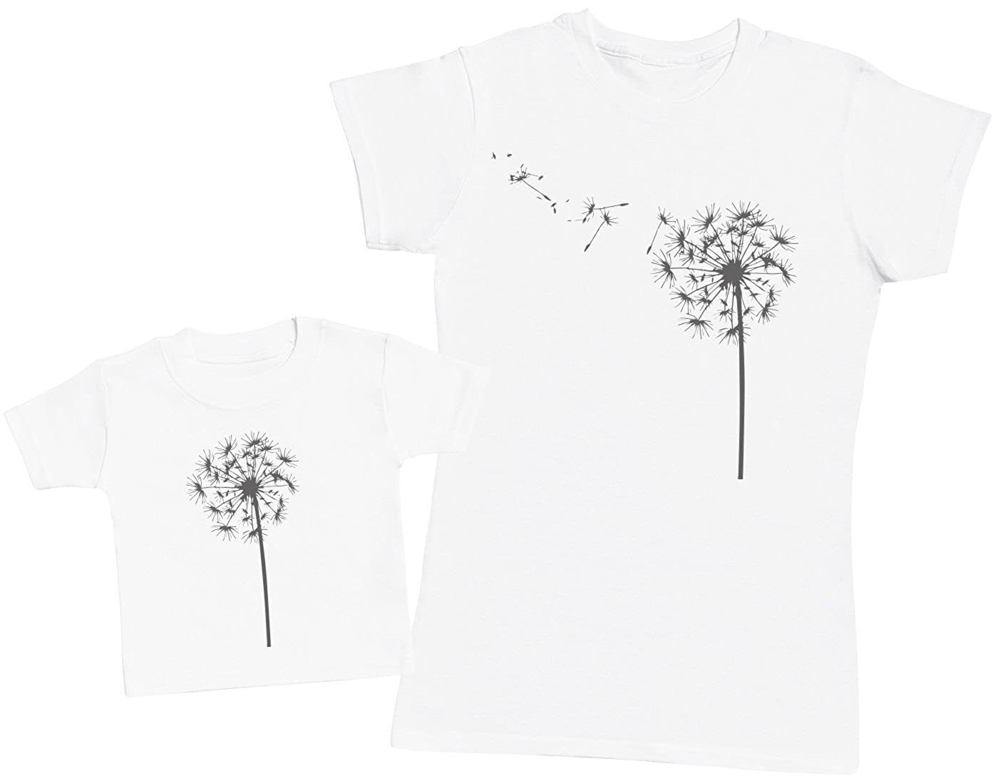 Dandelion and Baby Matching Mother Baby Gift Set Womens T Shirt /& Baby T Shirt