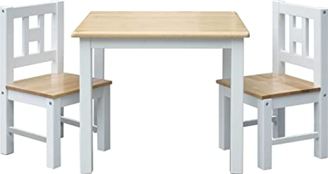 IB-Style - Kindersitzgruppe LUCA   3 Kombinationen   Set: 1x Tisch + 2x Stühle - Stuhl Truhenbank Kindermöbel Tisch Kindertis